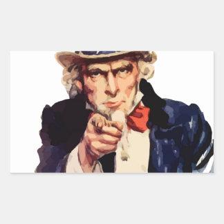 Free America Uncle Sam Rectangular Sticker