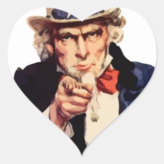 Free America Uncle Sam Heart Sticker