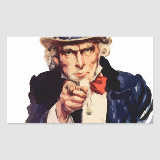 Free America Uncle Sam Stickers