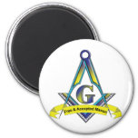 Free and Accepted Masons 2 Inch Round Magnet