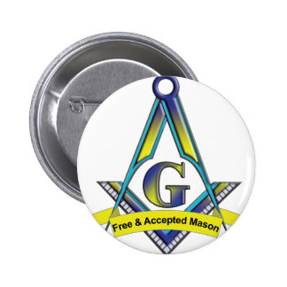 Free and Accepted Masons Button