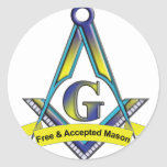 Free and Accepted Masons Round Sticker