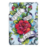 Free and Easy old school tattoo roses and banner iPad Mini Cases