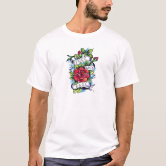 Free and Easy Roses Tattoo Artwork. T-Shirt