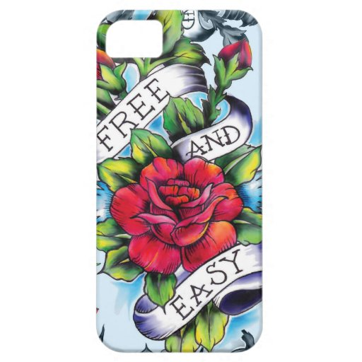 Free and easy watercolor tattoo style artwork. iPhone SE/5/5s case