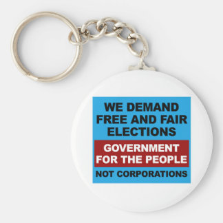 Free and Fair Elections Keychain