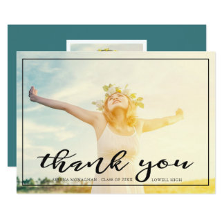 Free and Focused | Graduation Thank You | Dark Card