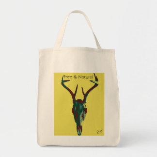 Free and Natural Deer Canvas Bag