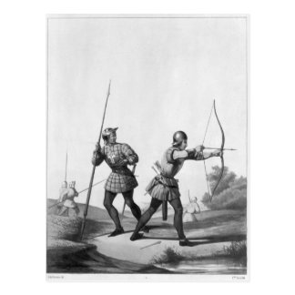Free archers during the reign of Louis XI Postcard