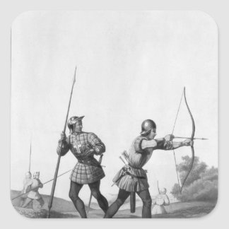 Free archers during the reign of Louis XI Square Sticker