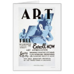 Free Art Classes 1936 WPA Card