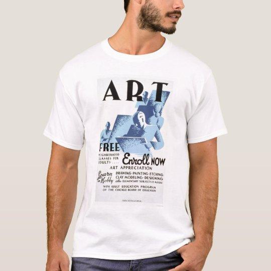 Free Art Classes 1936 WPA T-Shirt