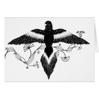 free as a bird black and white card
