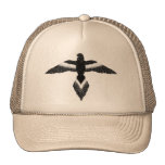 free as a bird black and white trucker hats