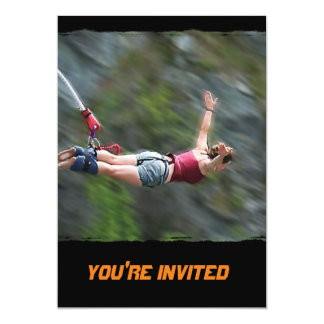 Free as a Bird Bungee Jumping Card