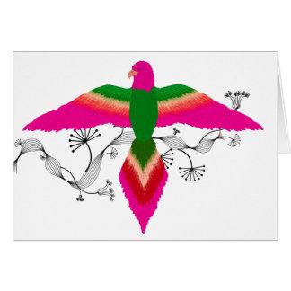 free as a bird pink card