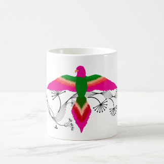 free as a bird pink coffee mug