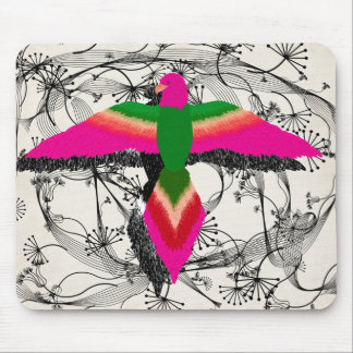 free as a bird pink mouse pads