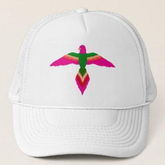 free as a bird pink trucker hat