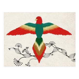 free as a bird postcard