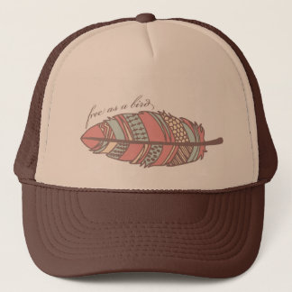 Free As A Bird Tribal Feather Hat