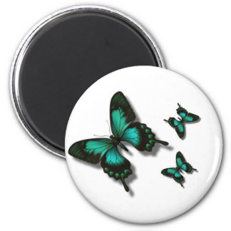 Free as a butterfly 2 inch round magnet