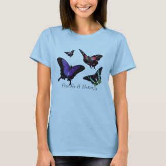 Free As A Butterfly Ladies 2 Sided Digital T-Shirt