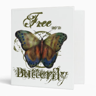 Free as a Butterfly White EZ-Turn&trade Binder
