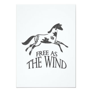 Free as the Wind 5x7 Paper Invitation Card