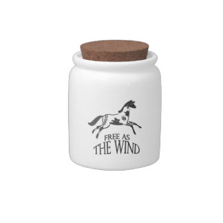 Free as the Wind Candy Jars