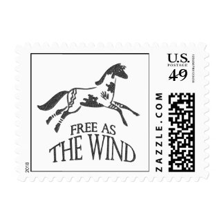 Free as the Wind Postage Stamp