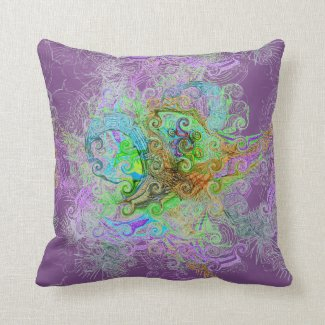 Free Association Design on Throw Pillow