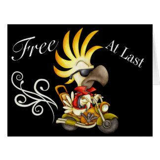 FREE AT LAST BIG Greeting Card - SRF