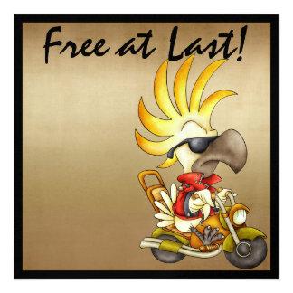 Free at Last Biker - SRF 5.25x5.25 Square Paper Invitation Card