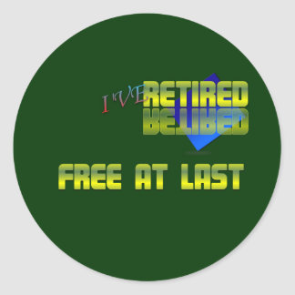 Free at last . :-) classic round sticker