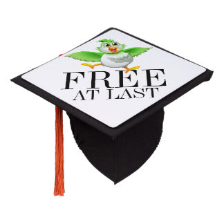 FREE AT LAST Graduation Cap Tassel Topper