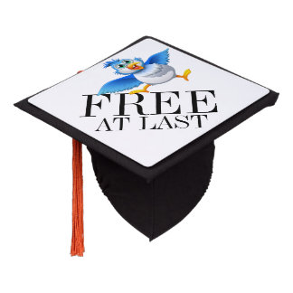 FREE AT LAST Graduation Cap Topper