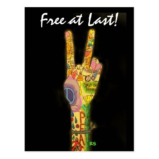 Free at Last !  SRF Postcard