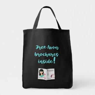 Free Avon Brochures Inside, Business Advertising Tote Bag