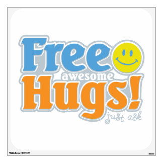 Free Awesome Hugs! Wall Sticker