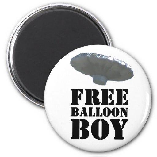 Free Balloon Boy 2 Inch Round Magnet