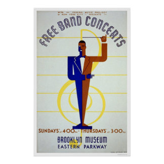 Free Band Concerts 1941 WPA Posters