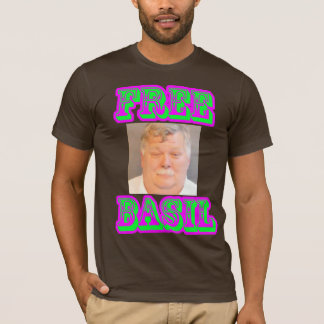 Free Basil Fitted Purple/Green on Brown T-Shirt
