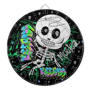 Free Bass Musica Sugar Skull Dartboard