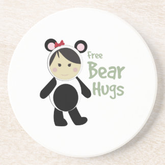 Free Bear Hugs Beverage Coaster