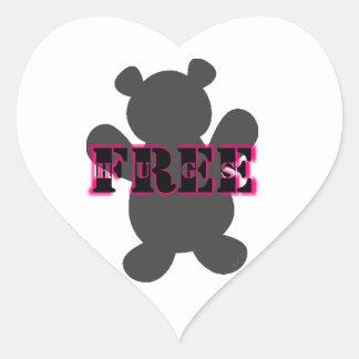 Free Bear Hugs Heart Sticker