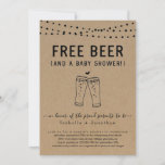 Free Beer and a Baby Shower Couples Gender Neutral Invitation