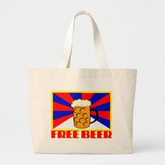 Free Beer Large Tote Bag
