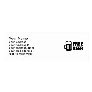 Free Beer Mini Business Card