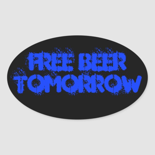 FREE BEER OVAL STICKER